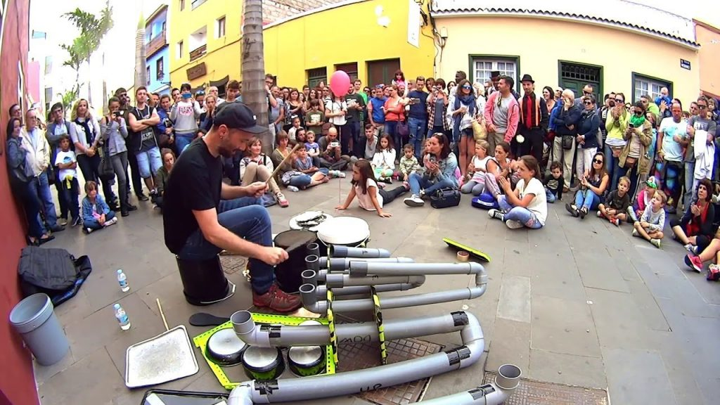 Bucket Pipe Drummer